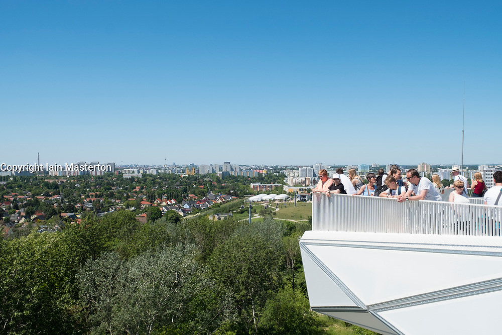 Visitors on viewing platform at IFA 2017 International Garden Festival (International Garten Ausstellung) in Berlin, Germany