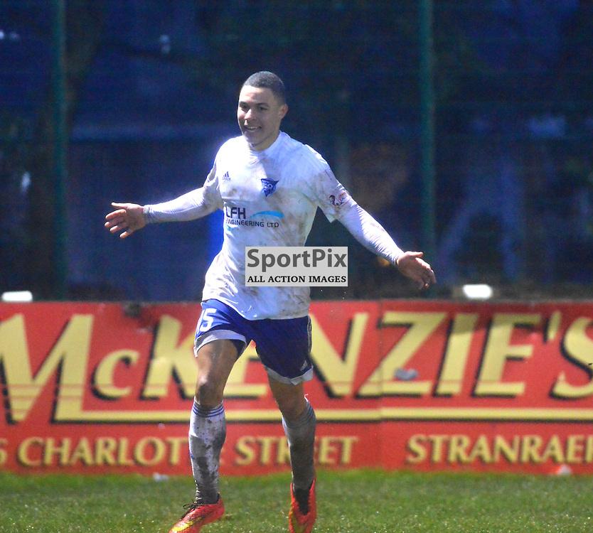 Peterhead's Leighton McIntosh celebrates his side's fifth goal at Stair Park......(c) BILLY WHITE | SportPix.org.uk