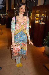 The MARCHIONESS OF WORCESTER at a party to celebrate 100 years of Chinese Cinema hosted by Shangri-la Hotels and Tartan Films at Asprey, New Bond Street, London on 25th April 2006.<br />