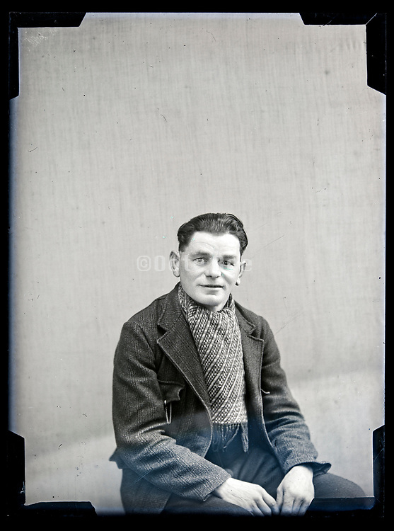 vintage studio portrait of man circa 1930s