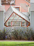 Gehry House, by Frank Gehry, at Santa Monica, California, Deconstructivist Post-Modern. built 1978.