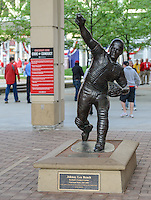 Johnny Bench Statue at the Great American Ball Park