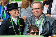 Kristina  Sprehe en vader Paul Sprehe<br /> Alltech FEI World Equestrian Games™ 2014 - Normandy, France.<br /> © DigiShots