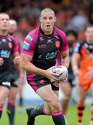 Hull KR's Joel Tomkins during the Betfred Super League match at the Mend-A-Hose Jungle, Casteford. PRESS ASSOCIATION Photo. Picture date: Sunday June 17, 2018. See PA story RUGBYL Castleford. Photo credit should read: Richard Sellers/PA Wire. RESTRICTIONS: Editorial use only. No commercial use. No false commercial association. No video emulation. No manipulation of images.