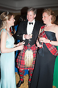 PHILIPPA COUTTIE; ANTHONY SCOTT; MRS. ANTHONY SCOTT, The Royal Caledonian Ball 2013. The Great Room, Grosvenor House. Park lane. London. 3 May 2013.