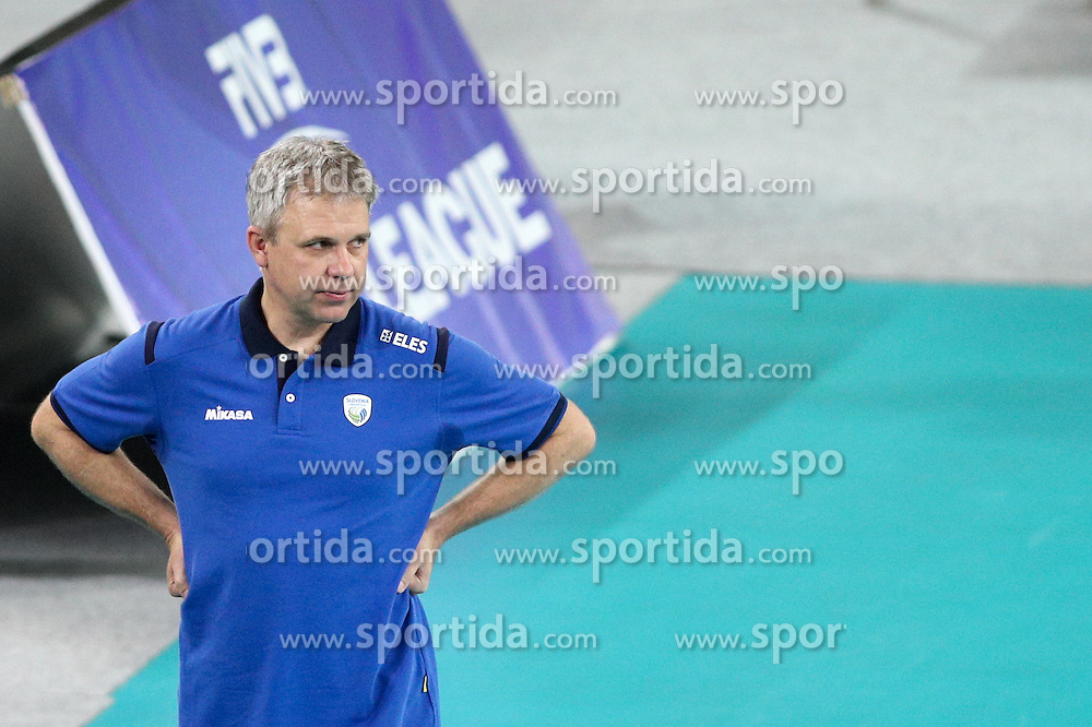 Bruno Najdic, head coach of Slovenia during volleyball match between Slovenia and Slovakia in CEV European League Women on June 22, 2016 in Stozice, Ljubljana, Slovenia. Photo by Morgan Kristan / Sportida