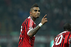 23.11.2011, Giuseppe Meazza Stadion, Mailand, ITA, UEFA CL, Gruppe H, AC Mailand (ITA) vs FC Barcelona (ESP), im Bild Kevin Boateng Milan // during the football match of UEFA Champions league, group H, between Gruppe H, AC Mailand (ITA) and FC Barcelona (ESP) at Giuseppe Meazza Stadium, Milan, Italy on 2011/11/23. EXPA Pictures © 2011, PhotoCredit: EXPA/ Insidefoto/ Paolo Nucci..***** ATTENTION - for AUT, SLO, CRO, SRB, SUI and SWE only *****