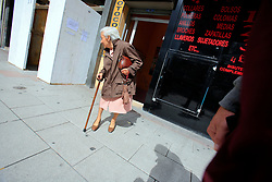 SPAIN GALICIA LA CORUNA 26AUG11 - An old woman in the city centre of La Coruna, Galicia, Spain.....jre/Photo by Jiri Rezac....© Jiri Rezac 2011