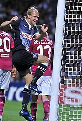 27.09.2011, Stade de Gerland, Lyon, FRA, UEFA CL, Gruppe D, Olympique Lyon (FRA) vs Dinamo Zagreb (CRO), im Bild Domagoj Vida (24) // during the UEFA Champions League game, group D, Olympique Lyon (FRA) vs Dinamo Zagreb (CRO) at de Gerland stadium in Lyon, France on 2011/09/27. EXPA Pictures © 2011, PhotoCredit: EXPA/ nph/ Pixsell +++++ ATTENTION - OUT OF GERMANY/(GER), CROATIA/(CRO), BELGIAN/(BEL) +++++
