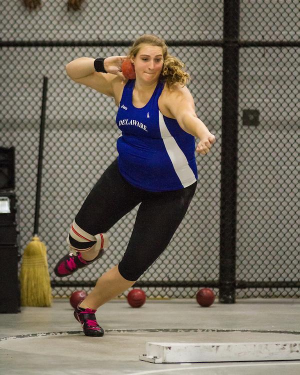 ECAC IC4A Indoor Track & FIeld Championship Sarah Hillman, shot put, University of Delaware
