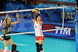 China Wei Qiuyue sets a ball