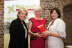 """Three top business women from Galway, Cork and Dublin win Network Ireland Business Women of the Year Awards (existing business)...Left to Right: .Ms Jo Rzymowska, Associate Vice President and General Manager, UK and Ireland Royal Caribbean International, Ms Ms Julia McAndrew, Compleat Travel Essentials, Galway and Ms Mary Kershaw President Network Ireland. Ms McAndrew won he Businesswoman of the Year. ..Friday, 21 October, 2011: The Galway founder of the successful travel pack for flyers, an internationally renowned hairdresser from Cork and the Head of Prudential Supervision at the Irish Banking Federation were presented with Network Ireland 2011 Business Women of the Year Awards, sponsored by Celebrity Cruises, today at Dublin Castle...Ms Julia McAndrew, the founder of Compleat Travel Essentials Packs, the new Galway company that sells to over 4,000 retail and hotel customers, a range of specially prepared packs containing essential toiletries for those flying and travelling throughout the world, won the Network Businesswoman (New Business) of the Year. Ms Valerie Cahill, CEO  Ikon Hair Design in Cork, the award winning hair styling company in Cork, won the Network Businesswoman (Self Employed) of the Year and Ms Mary Doyle, Head of Prudential Supervision at the  Irish Banking Federation, Dublin won the Network Businesswoman (Employee) of the Year. ..The """"Trish Murphy Honorary Award"""" was presented by Network Ireland to the successful business woman, Ms Norma Smurfit, for her tireless commitment and work for a large number of charities. This is the inaugural year of this award in honour of Trish Murphy, a past Network Dublin President who contributed significantly to the organisation and also for charity. Sadly she passed away last year prematurely at the age of 53 from cancer...Ms Mary Kershaw, President Network Ireland, an organisation representing over 3,000 women in business, said that the theme for this year's awards was """"Local Talent for Global Opport"""