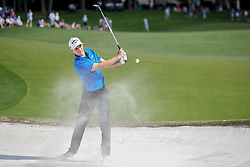 May 6, 2018 - Charlotte, NC, U.S. - CHARLOTTE, NC - MAY 06: Aaron Wise hits out of the sand during the final round of the Wells Fargo Championship on May 6, 2018 at Quail Hollow Club in Charlotte, NC. (Photo by William Howard/Icon Sportswire) (Credit Image: © William Howard/Icon SMI via ZUMA Press)