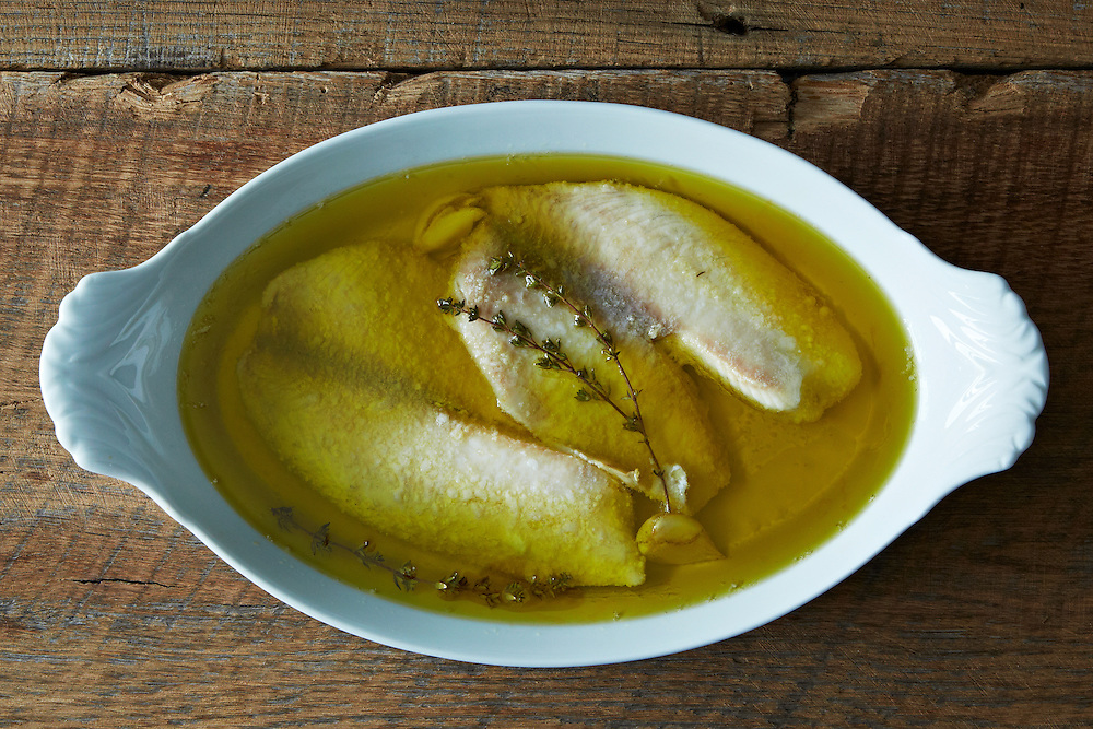 tilapia poached in olive oil