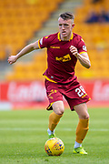 David Turnbull (#28) of Motherwell FC runs with the ball during the Ladbrokes Scottish Premiership match between St Johnstone and Motherwell at McDiarmid Stadium, Perth, Scotland on 11 May 2019.