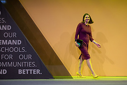 © Licensed to London News Pictures . 15/09/2019. Bournemouth, UK. Party leader JO SWINSON comes on stage to host a Q&A session . The Liberal Democrat Party Conference at the Bournemouth International Centre . Photo credit: Joel Goodman/LNP