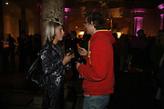 Lyndsey Scott and Alastair McClymont, Party to celebrate the Christian Lacroix Fashion in Motion fashion show and the opening of  	M/M Paris: Antigone Under Hypnosis part of  Paris Calling the UK-wide celebration of contemporary French culture. V. & A. London. 31 October 2006. -DO NOT ARCHIVE-© Copyright Photograph by Dafydd Jones 66 Stockwell Park Rd. London SW9 0DA Tel 020 7733 0108 www.dafjones.com