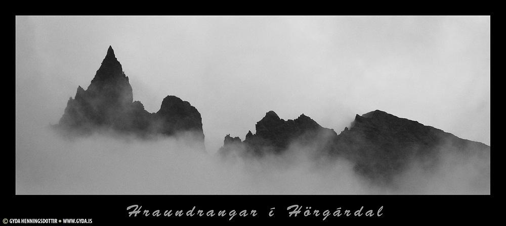 Hraundrangar in Öxnadalur