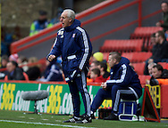 Manager Mick McCarthy of Ipswich Town during the Sky Bet Championship match at The Valley, London<br /> Picture by Alan Stanford/Focus Images Ltd +44 7915 056117<br /> 28/11/2015