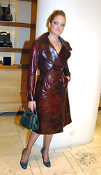 LADY ELOISE ANSON at a party hosted by Burberry to launch their special collection in aid of Breakthrough Breast Cancer, held at 21-23 New Bond Street, London W1 on 5th October 2004.<br /><br />NON EXCLUSIVE - WORLD RIGHTS