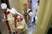 Bishop Salvatore R. Matano joins the procession at the Chrism Mass at Sacred Heart Cathedral in Rochester on Tuesday, March 31, 2015.