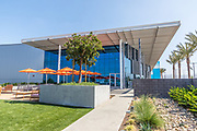 Outdoor seating at Fivepoint Arena at Great Park Ice in Irvine