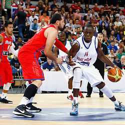 Eric Boateng (14) on offense. GB men vs Puerto Rico basketball at the Copper Box Arena. 11/08/2013 (c) MATT BRISTOW