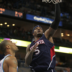 05 November 2008: Atlanta Hawks forward Josh Smith (5) shoots past New Orleans Hornets center Tyson Chandler (6) during the first half of a NBA game between the New Orleans Hornets and the Atlanta Hawks at the New Orleans Arena in New Orleans, LA..