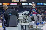 KELOWNA, CANADA - MARCH 22:  Orchard Park Zamboni Rider at the Kelowna Rockets game on March 22, 2018 at Prospera Place in Kelowna, British Columbia, Canada.  (Photo By Cindy Rogers/Nyasa Photography,  *** Local Caption ***