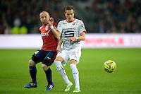 Florent Balmont / Anders Konradsen - 15.03.2015 - Lille / Rennes - 29e journee Ligue 1<br /> Photo : Andre Ferreira / Icon Sport