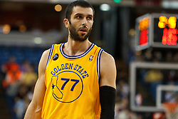 March 14, 2011; Sacramento, CA, USA;  Golden State Warriors small forward Vladimir Radmanovic (77) before a free throw against the Sacramento Kings during the first quarter at the Power Balance Pavilion. Sacramento defeated Golden State 129-119.