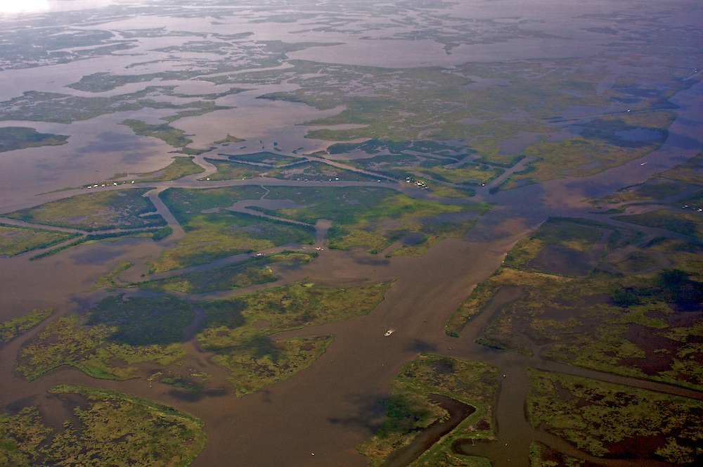 Eroded Wetlands, Plaquemines Parish, Louisiana, USA