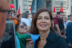 July 1, 2017 - Rome, Italy - Former members of the Democratic Party, left-wing associations, Mayors and union representatives participated on 1/7/2017 in Rome in Piazza dei S.S. Apostoli to the constituent manifestation of the 'Together' Movement, for the construction of a new center-left alternative to the Democratic Party.In this picture Laura Bordini President of the House (Credit Image: © Leo Claudio De Petris/Pacific Press via ZUMA Wire)