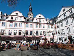 View of Am Plan Square in Koblenz Germany