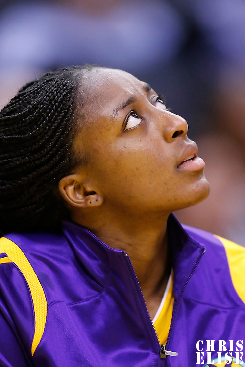 19 June 2014: Los Angeles Sparks forward Nneka Ogwumike (30) is seen on the bench during the Los Angeles Sparks 87-77 victory over the Tulsa Shock, at the Staples Center, Los Angeles, California, USA.