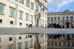 Italy's Presidential Palace, Quirinale during the political talks after Italy's general election. Rome on  5 April 2018. Christian Mantuano / OneShot