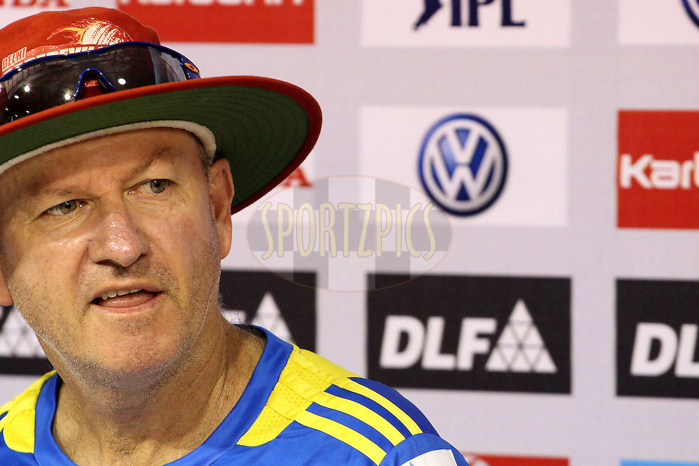 Delhi Daredevils head coach, Greg Shipperd during the Delhi Daredevils practice session held at the MA Chidambaram Stadium in Chennai, Tamil Nadu, India on the 11th May 2011..Photo by Ron Gaunt/BCCI/SPORTZPICS