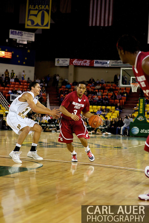 The University of Alaska Anchorage vs the Washington State Cougars in the first round of the Carrs/Safeway Great Alaska Shootout.