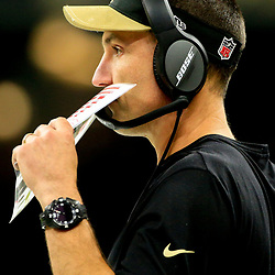 Oct 30, 2016; New Orleans, LA, USA; New Orleans Saints defensive coordinator Dennis Allen against the Seattle Seahawks during the second quarter of a game at the Mercedes-Benz Superdome. Mandatory Credit: Derick E. Hingle-USA TODAY Sports