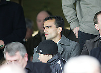 Photo: Lee Earle.<br /> Yeovil Town v Swansea City. Coca Cola League 1. 24/02/2007.Swansea's new manager Roberto Martinez watches the game from the stands.