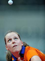 08-05-2011 TAFELTENNIS: WORLD TABLE TENNIS CHAMPIONSHIPS: ROTTERDAM<br /> Suzanne Dieker NED<br /> ©2011-FotoHoogendoorn.nl
