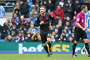 Arsenal defender Shkodran Mustafi (20) during the Premier League match between Brighton and Hove Albion and Arsenal at the American Express Community Stadium, Brighton and Hove, England on 4 March 2018. Picture by Phil Duncan.