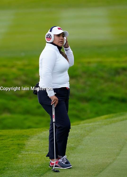 Auchterarder, Scotland, UK. 14 September 2019. Saturday afternoon Fourballs matches  at 2019 Solheim Cup on Centenary Course at Gleneagles. Pictured;  Lizette Salas of Team USA.  Iain Masterton/Alamy Live News