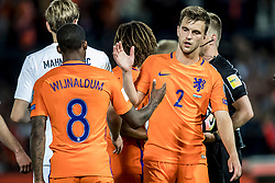 09.06.2017, De Kuip Stadium, Rotterdam, NED, FIFA WM 2018 Qualifikation, Niederlande vs Luxemburg, Gruppe A, im Bild Joel Veltman (R) and Georginio Wijnaldum (L) of Netherlands // Joel Veltman (R) and Georginio Wijnaldum (L) of Netherlands during the FIFA World Cup 2018, group A qualifying match between Netherlands and Luxemburg at the De Kuip Stadium in Rotterdam, Netherlands on 2017/06/09. EXPA Pictures © 2017, PhotoCredit: EXPA/ Focus Images/ Joep Joseph Leenen<br /> <br /> *****ATTENTION - for AUT, GER, FRA, ITA, SUI, POL, CRO, SLO only*****