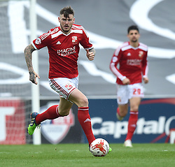 Swindon Town's Ben Gladwin in action during the Sky Bet League One match between Swindon Town and Milton Keynes Dons at The County Ground on 4 April 2015 in Swindon, England - Photo mandatory by-line: Paul Knight/JMP - Mobile: 07966 386802 - 04/04/2015 - SPORT - Football - Swindon - The County Ground - Swindon Town v Milton Keynes Dons - Sky Bet League One