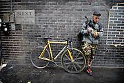Fixie rider around London