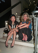 JULIE LEE; AMANDA HINES, Tate Summer party. Tate Britian, Millbank. London. 28 May 2012