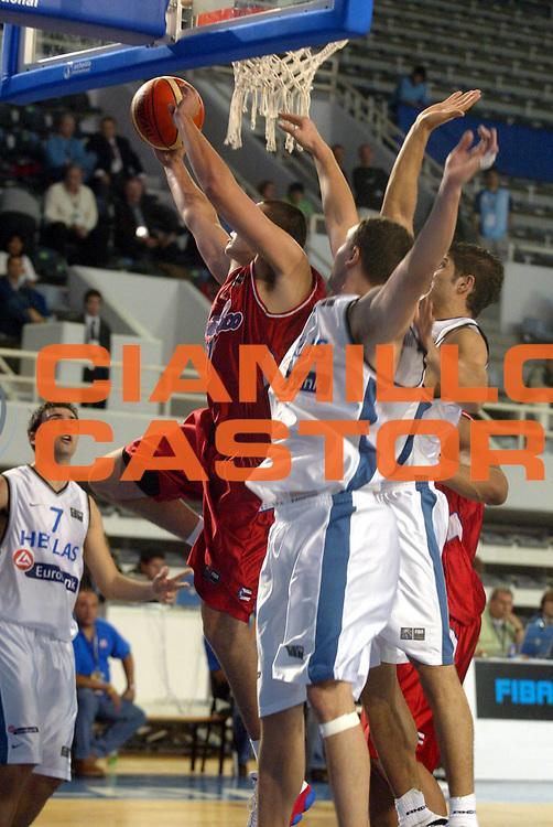 DESCRIZIONE : MAR DEL PLATA FIBA UNDER 21 WORLD CHAMPIONSHIP FOR MEN CAMPIONATO DEL MONDO UNDER 21 MASCHILE<br />GIOCATORE : GALINDO<br />SQUADRA : PORTORICO<br />EVENTO : UNDER 21 WORLD CHAMPIONSHIP FOR MAN CAMPIONATO DEL MONDO UNDER 21 MASCHILE<br />GARA : PORTORICO-GRECIA<br />DATA : 12/08/2005<br />CATEGORIA : TIRO<br />SPORT : Pallacanestro<br />AUTORE : AGENZIA CIAMILLO &amp; CASTORIA/M.Ciamillo