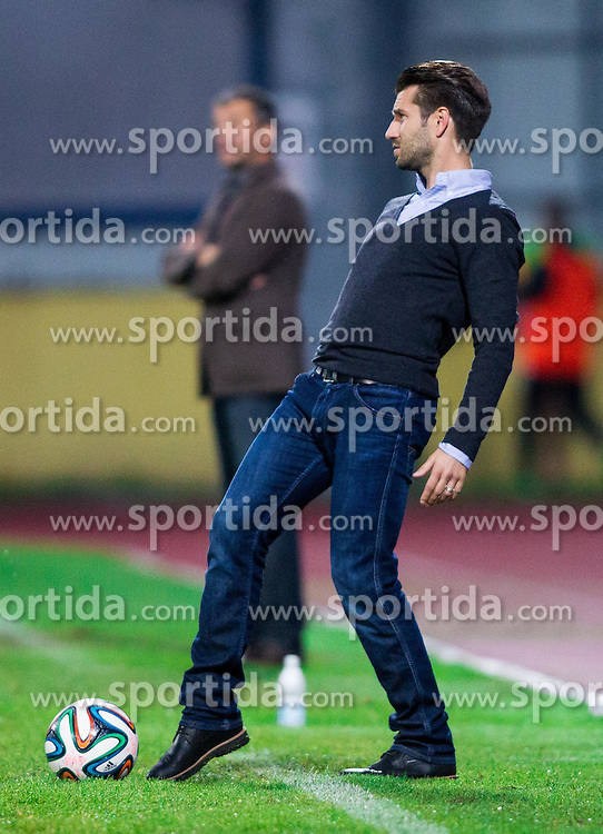 Luka Elsner, head coach of Domzale during football match between NK Kalcer Radomlje and NK Domzale in 8th Round of Prva liga Telekom Slovenije 2014/15, on September 13, 2014 in Sports park Domzale, Slovenia. Photo by Vid Ponikvar  / Sportida.com