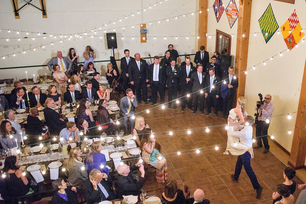 Annapolis, Maryland - April 18, 2015: Newlyweds Stephanie Shearer Cate and Winston Bao Lord wow the audience with a surprise choreographed &quot;first dance&quot; at their friends Jeff and Marry Zients' property in Annapolis, Maryland Saturday April 18, 2015. Winston is on the board for the DC Ballet. The couple hired two dancers, Morgann Rose &amp; Dan Roberge, to choreograph the piece, which took a month of practice.<br /> <br /> CREDIT: Matt Roth for The New York Times<br /> Assignment ID: 30173318A